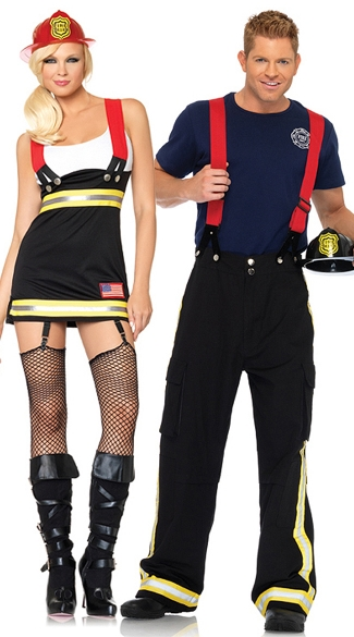 Firehouse Hotties Couples Costume - as shown