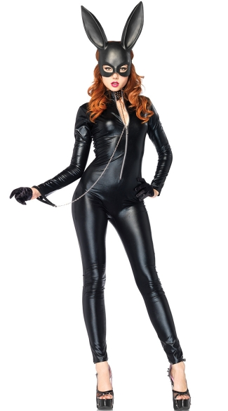 Darque Bunny Catsuit Costume Kit - as shown