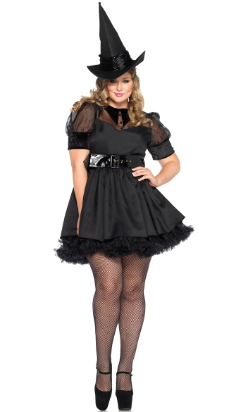 Plus Size Bewitching Witch Costume - Black