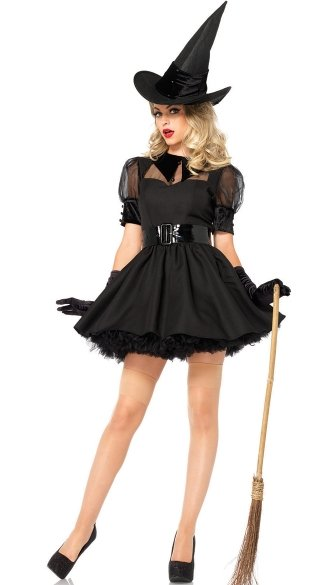 Sexy Bewitched Costume, Bewitching Witch Costume, Retro Witch Costume