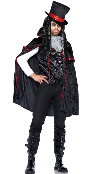Men's Dreaded Count Vamp Costume - Black