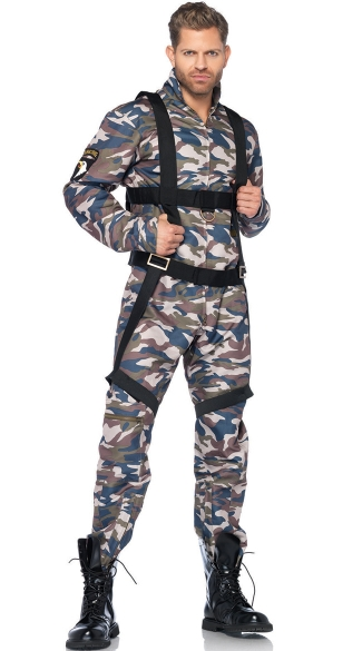 mens military combat stud costume