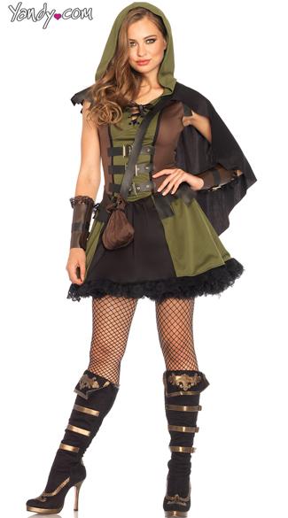 Darling Robin Hood Costume - Olive/Brown