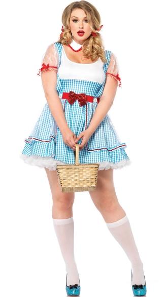 Plus Size Adult Kansas Girl Costume - Blue