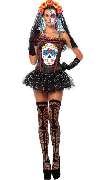 Sugar Skull Bustier - Black