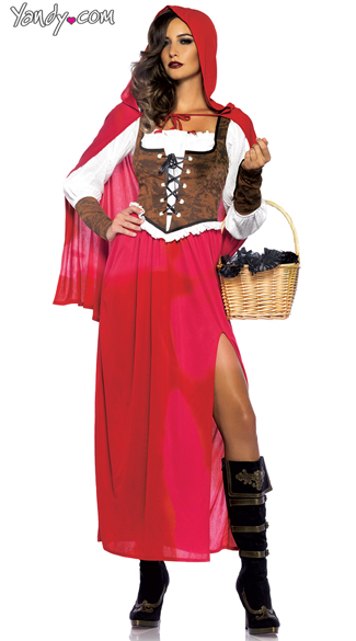 Sexy Red Riding Hood Costume - Red