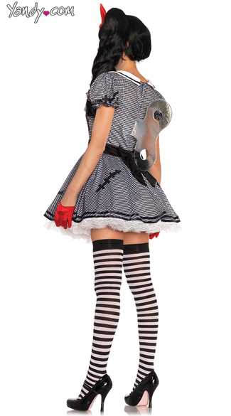 Wind Up Doll Costume - Black/White