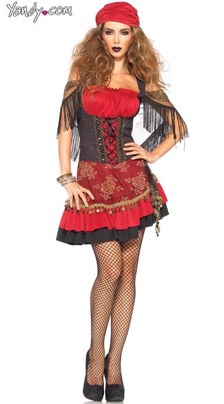 Mystic Vixen Gypsy Costume - Burgundy/Black