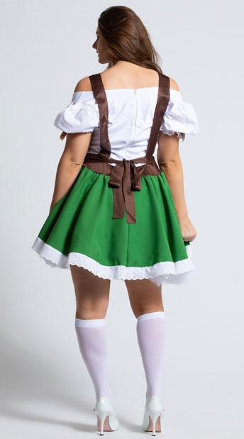 Plus Size Oktoberfest Sweetie Costume - As Shown