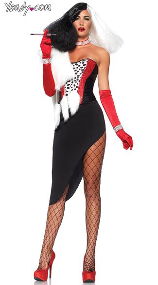Cruel Diva Costume - As Shown