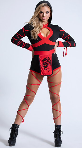 Dragon Ninja Costume - Black/Red