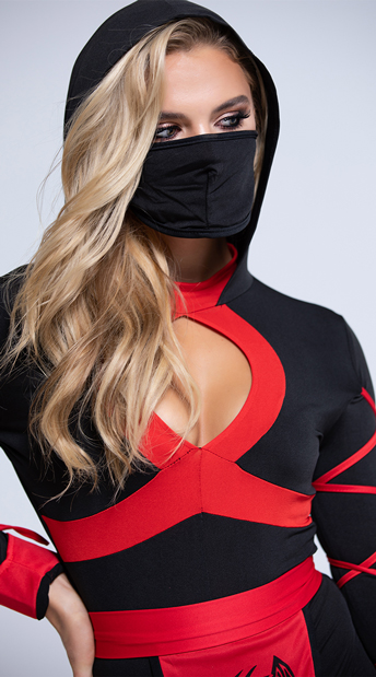 Dragon Ninja Costume - Black/Red