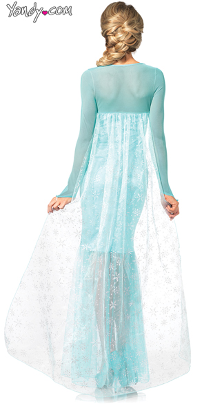 Fantasy Snow Queen Costume - Aqua
