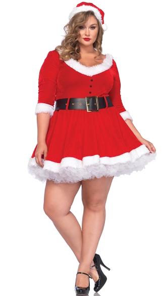 Plus size miss santa costume