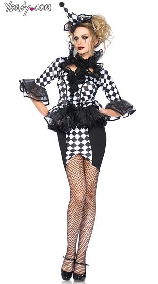 Pretty Pirouette Jester Costume - Black/White