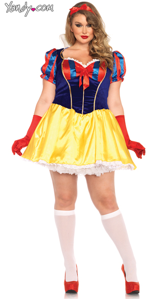Plus Size Poison Apple Princess Costume, Plus Size Snow White Costume, Sexy Snow White Costume