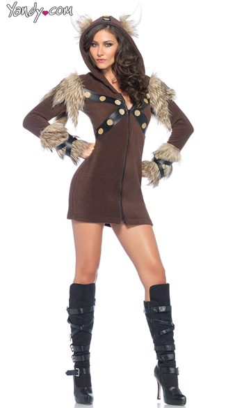 Cozy Viking Cutie Costume, Sexy Viking Costume, Sexy Warrior Costume