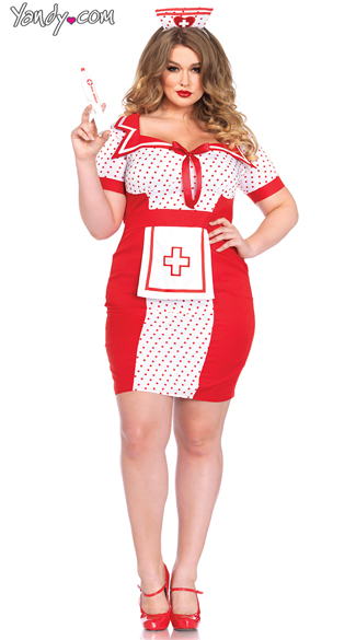 Plus Size Bedside Betty Costume, Plus Size Nurse Costume, Plus Size Doctor Costume