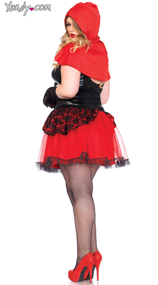 Plus Size Sexy Red Costume - Black/Red