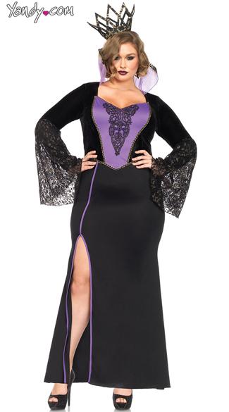 Plus Size Evil Queen Costume - Black/Purple