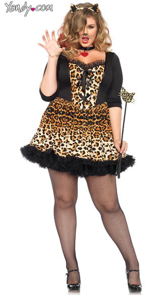 Plus Size Wildcat Costume, Plus Size Cat Costume, Plus Size Animal Costume