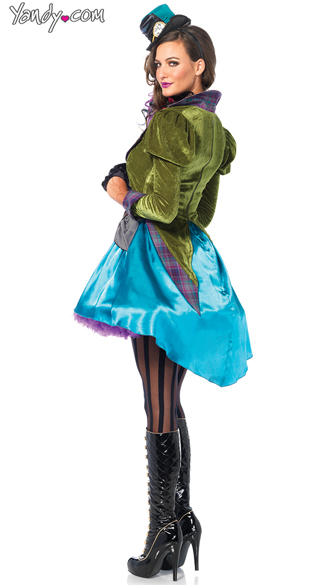 Sexy Mad Hatter Costume - As Shown