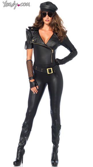 Easy Rider Hottie Costume, Sexy Biker Costume, Sexy Catsuit Costumes