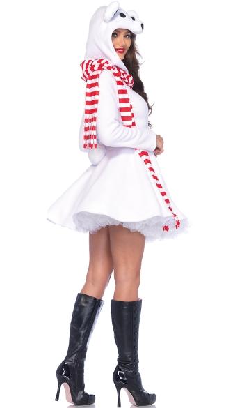 Cozy Polar Bear Costume - White/Red