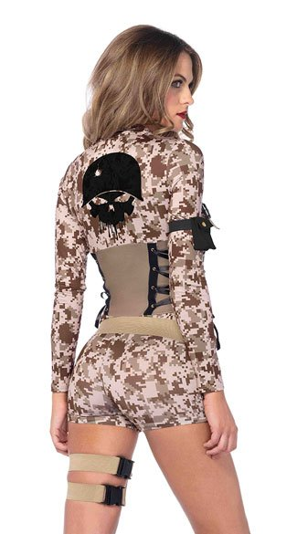 Battlefield Babe Costume - Camouflage