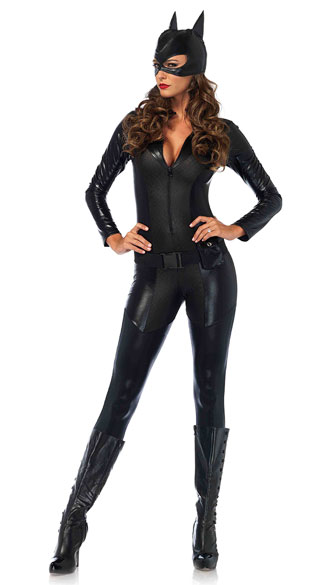 Captivating Crime Fighter Costume, Sexy Catsuit Costume, Sexy Superhero Costume