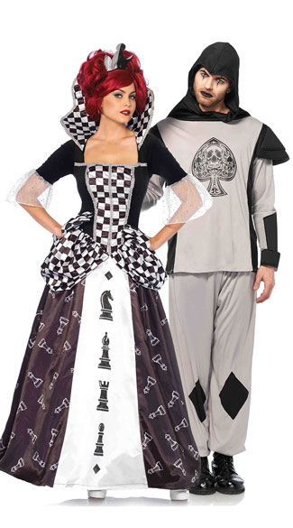 black and white wonderland couples costume