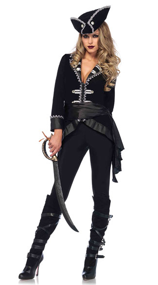 Seven Seas Beauty Costume - Black/Silver