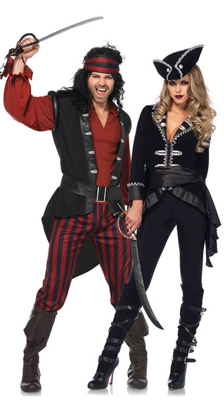 seven seas pirate couples costume