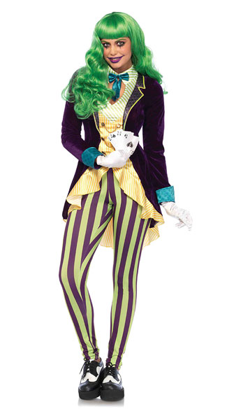 Wicked Trickster Costume, Sexy Trickster Costume, Sexy Prankster Costume