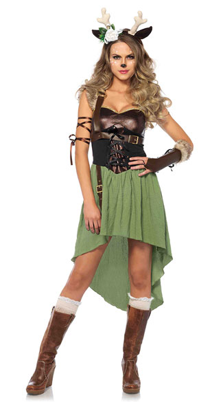 Dark Forest Fawn Costume, Sexy Deer Costume, Sexy Forest Costume