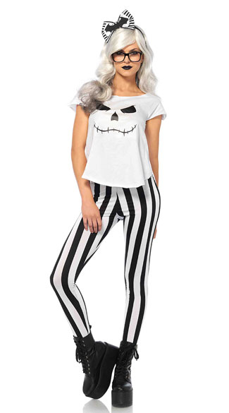 Hipster Skeleton Costume, Sexy Skeleton Costume, Sexy Hipster Costume