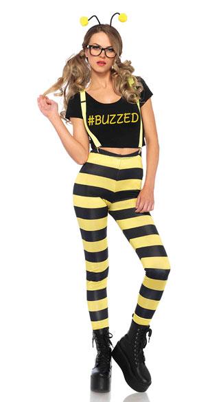 Buzzed Bee Costume - Black/Yellow