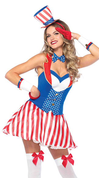 Yankee Doodle Darlin\' Costume, Sexy Fourth of July Costume, Sexy Patriotic Costume