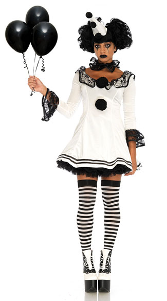 Pierrot Clown Costume Crazy Clown Costume Yandy Com