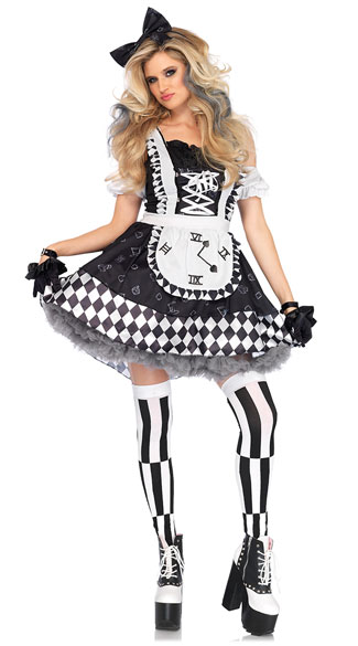 Black And White Alice In Wonderland Costume