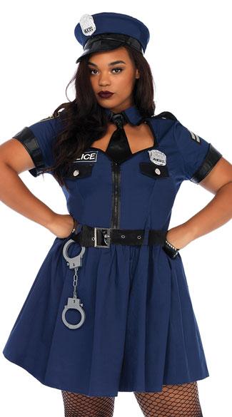 Plus Size Flirty Cop Costume Plus Size Sexy Officer Costume Yandy