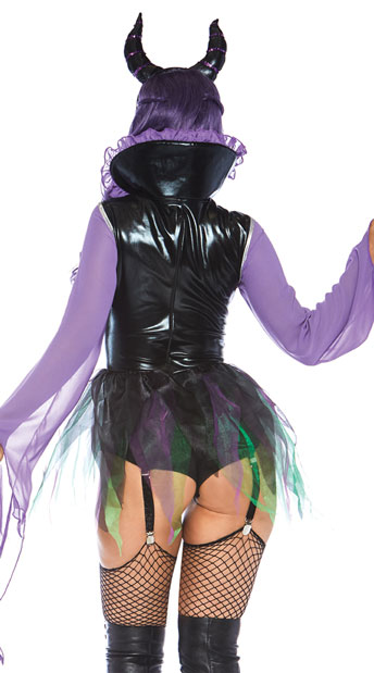 Wicked Sorceress Costume - Black/Purple