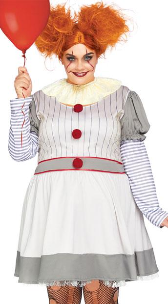 Plus Size Creepy Clown Costume, Plus Size Sexy Clown Costume - Yandy.com