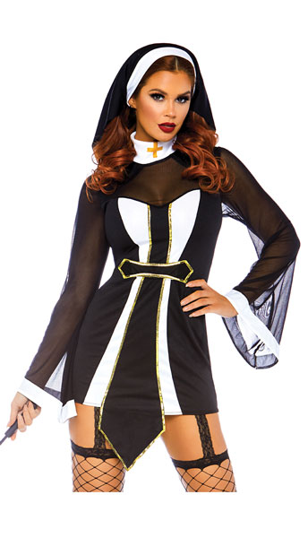 Twisted Sister Costume - Black/White