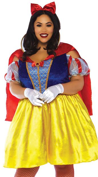 Plus Size Fairy Tale Snow White Costume - Multi