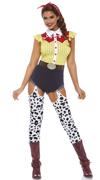 Giddy Up Cowgirl Costume - Multi