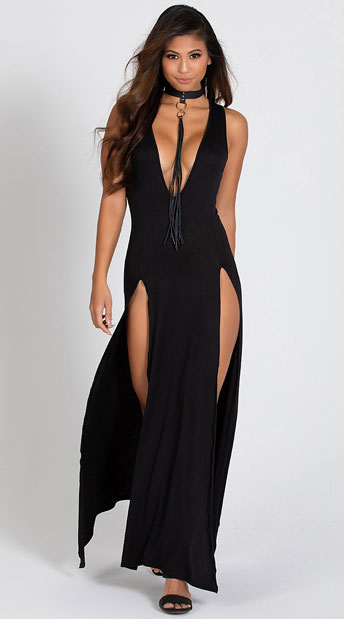 Double Trouble Black Gown - Black