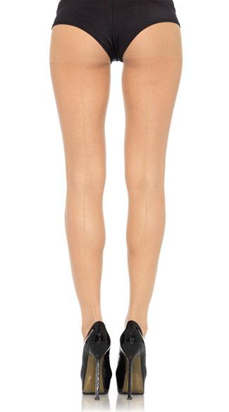 Sheer Backseam Pantyhose - Nude