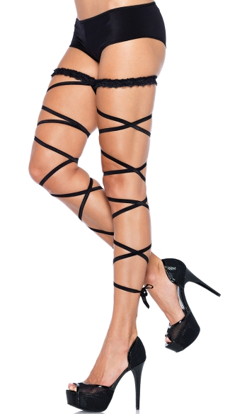 Garter Leg Wraps, Lace Up Leg Wraps