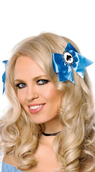 Alice Hair Bows - Blue